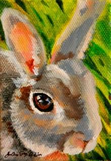 """""""Shannon's Bunny"""" original fine art by JoAnne Perez Robinson"""