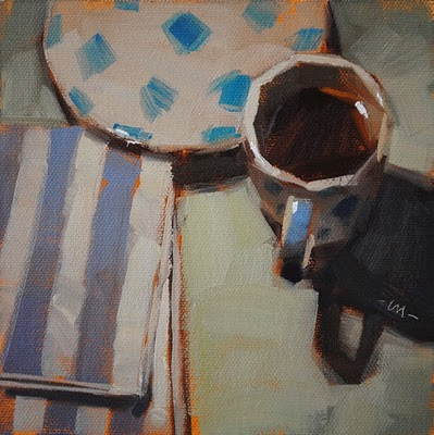 """Patterned Espresso"" original fine art by Carol Marine"