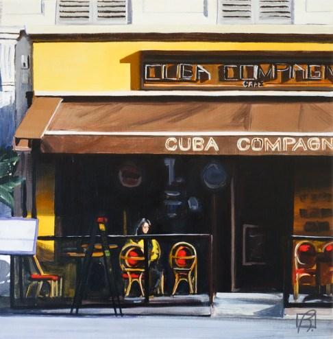 """Cafe Cuba Compagnie"" original fine art by Andre Beaulieu"