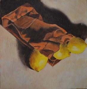"""Bag of Lemons"" original fine art by Robert Frankis"