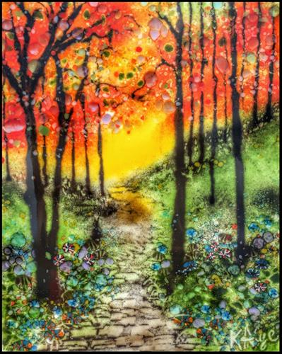 """Summer Sunrise"" original fine art by Kelly Alge"