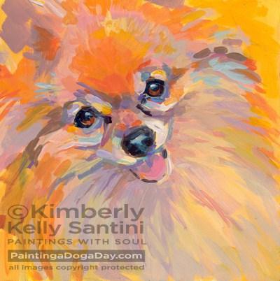 """Sunshine"" original fine art by Kimberly Santini"