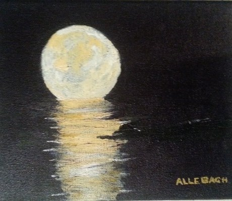 """Cuban Moon"" original fine art by Jo Allebach"