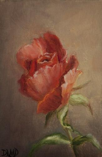 """Last Bud"" original fine art by Debbie Lamey-Macdonald"