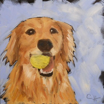"""Fetch"" original fine art by Claire Henning"