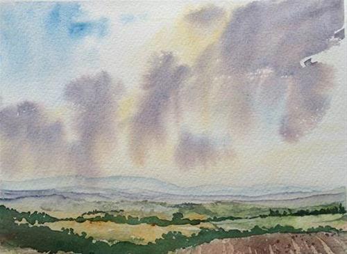 """View over the Berkshire Hills"" original fine art by Peter Wellington"