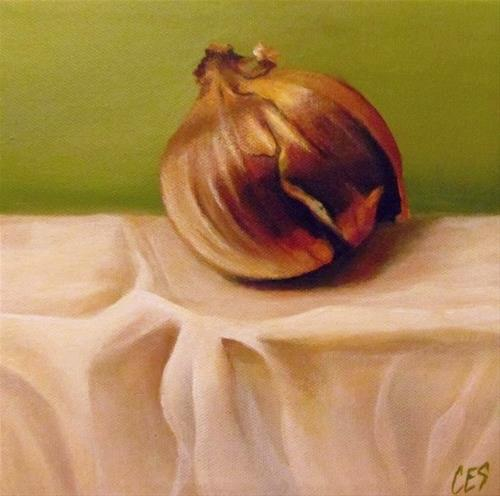 """Onion and Linen"" original fine art by ~ces~ Christine E. S. Code"