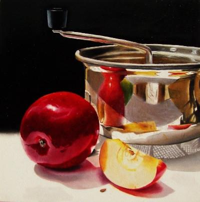 """Applesauce!"" original fine art by Jacqueline Gnott, whs"
