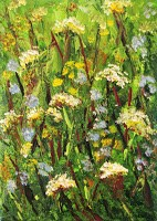 """Wildflowers1"" original fine art by Nan Johnson"