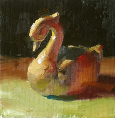 """Graceful Color --- Sold"" original fine art by Qiang Huang"
