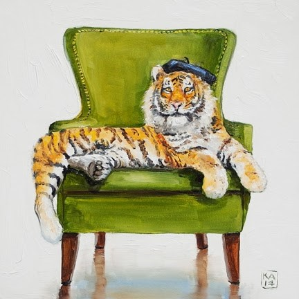 """hold that tiger"" original fine art by Kimberly Applegate"