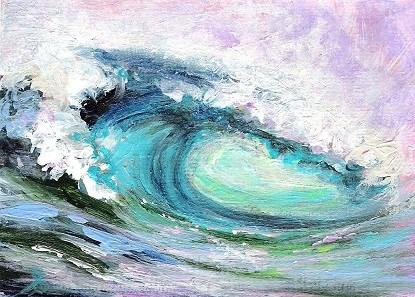 """3138 - TUNNEL VISION - ACEO Series"" original fine art by Sea Dean"