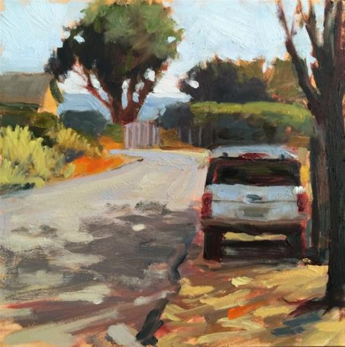 """Road to the Bay"" original fine art by Deborah Newman"