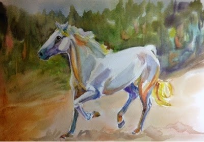 """#11/30 in 30 - Study in White - Prance"" original fine art by Lyn Gill"
