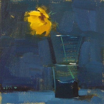 """Yellow Shot & panel holders"" original fine art by Carol Marine"
