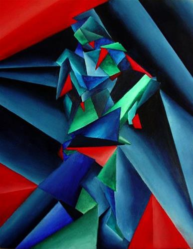 """Mark Webster Artist - Abstract Geometric Cubist Nude Figurative Oil Painting"" original fine art by Mark Webster"