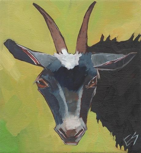 """Goat "" original fine art by Elizabeth See"