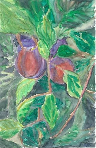 """Plums"" original fine art by Laura Denning"