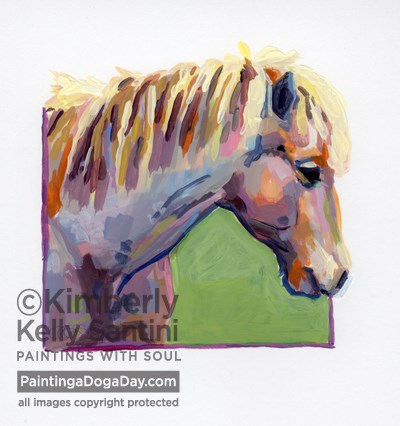 """Stardust, A Painted Sketch"" original fine art by Kimberly Santini"