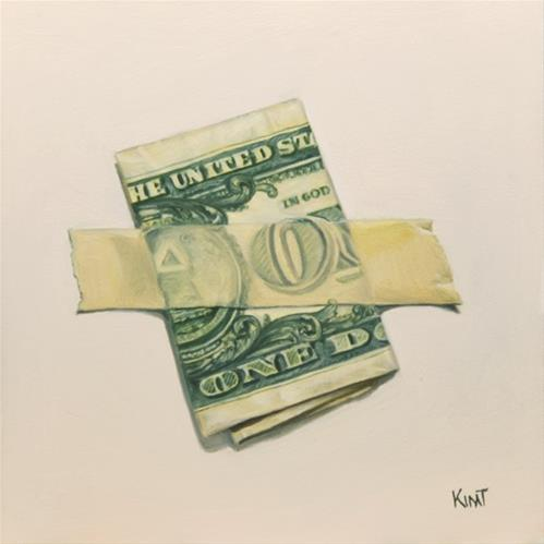 """One Dollar Bill"" original fine art by Kim Testone"