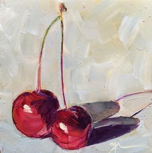 """Cherry Stems"" original fine art by Gigi ."