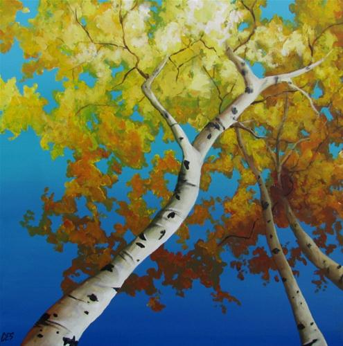 """Looking Up"" original fine art by ~ces~ Christine E. S. Code"