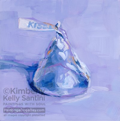 """A Kiss for Oklahoma"" original fine art by Kimberly Santini"