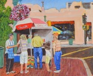 """Lunch Time"" original fine art by Robert Frankis"