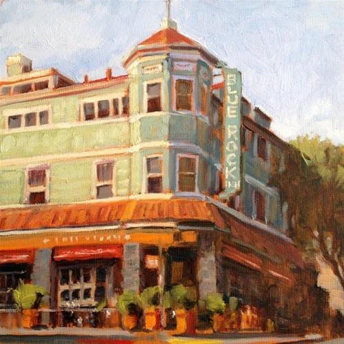 """""""Blue Rock Inn"""" original fine art by Deborah Newman"""