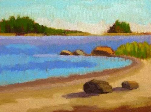 """On The Beach"" original fine art by Bobbi Heath"