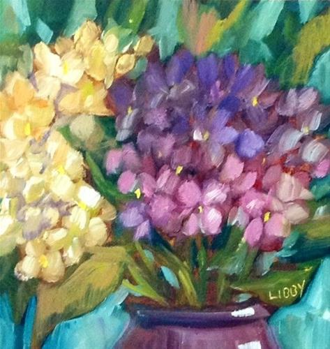 """Early Morning Flowers"" original fine art by Libby Anderson"
