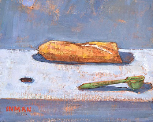 """Baguette, Measuring Spoon, And Round Thing"" original fine art by Kevin Inman"