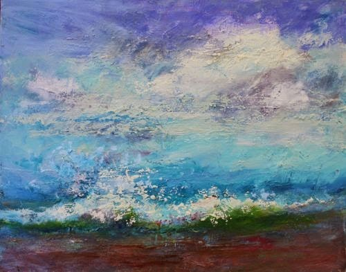 """Mighty Waves, Contemporary Seascape Paintings by Arizona Amy Whitehouse   rtist Amy Whitehouse"" original fine art by Amy Whitehouse"