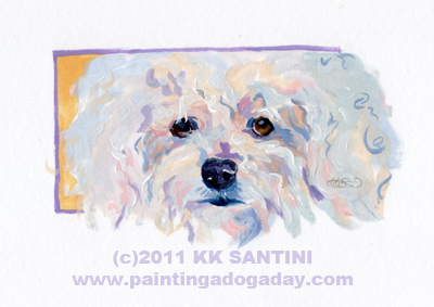 """Chanel, A Painted Sketch"" original fine art by Kimberly Santini"