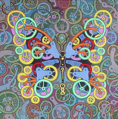 """Clockwork Butterfly No. 8"" original fine art by Randal Huiskens"