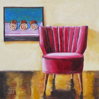 """sit and spin"" original fine art by Kimberly Applegate"