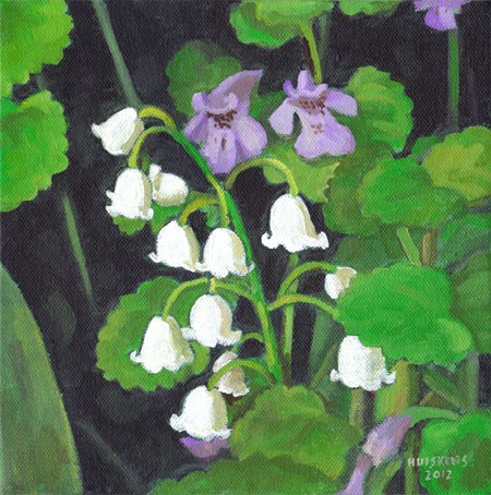 """""""Lilies Of The Valley No. 3"""" original fine art by Randal Huiskens"""