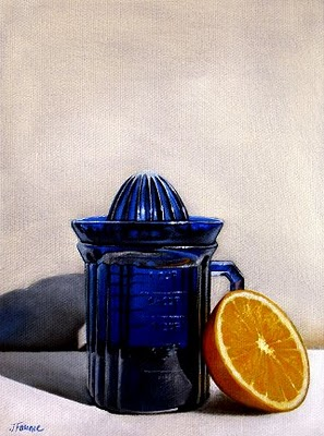 """Antique Orange Juicer"" original fine art by Jelaine Faunce"