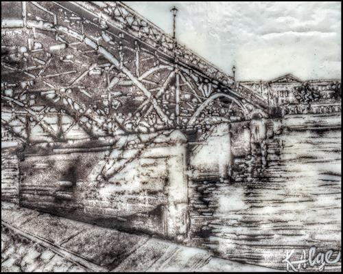 """Paris Bridge"" original fine art by Kelly Alge"