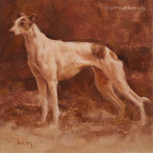 """Monochrome Study of a Greyhound"" original fine art by Kathleen Coy"