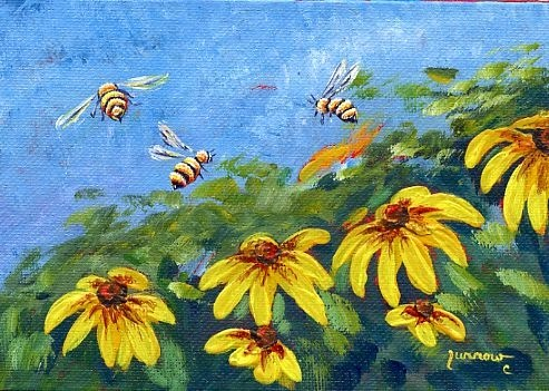 """Pollinator Series -  #Two"" original fine art by Sue Furrow"