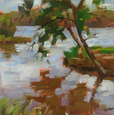 """Inks Lake"" original fine art by Carol Marine"