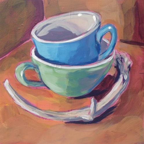 """""""Antler Stack"""" original fine art by Kat Corrigan"""