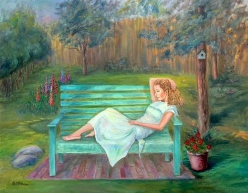 """joy"" original fine art by Barbara Whitmire"