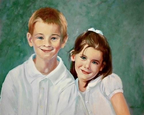 """""""Her Children"""" original fine art by Carole Chalmers"""