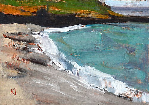 """La Jolla Beach Painting"" original fine art by Kevin Inman"