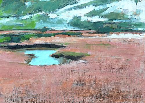 """San Elijo Lagoon"" original fine art by Kevin Inman"