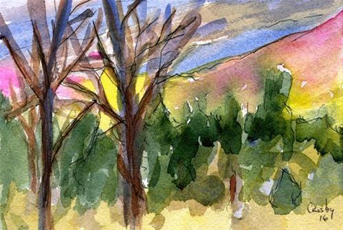 """Sky Works"" original fine art by Donna Crosby"