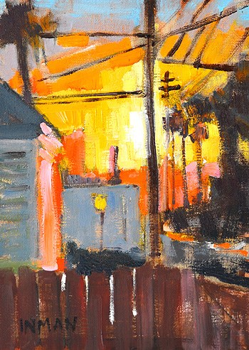 """Sunset, San Diego"" original fine art by Kevin Inman"