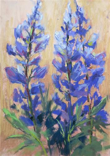 """Lupines in Iceland"" original fine art by Karen Margulis"